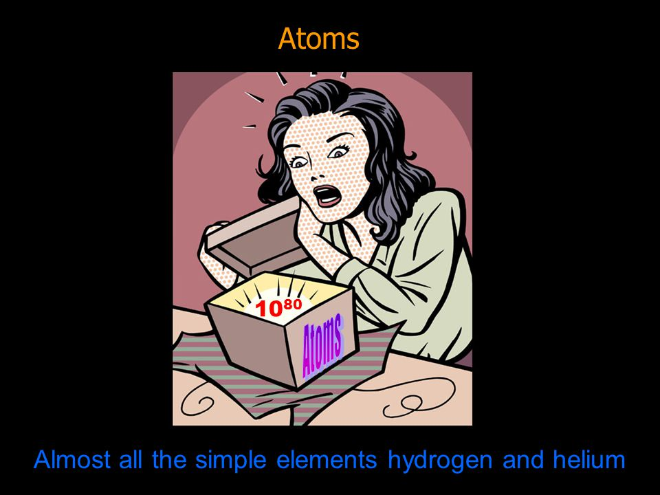 Almost all the simple elements hydrogen and helium