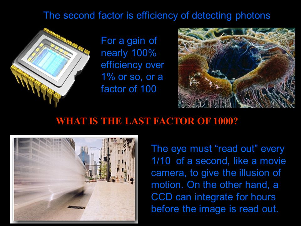 The second factor is efficiency of detecting photons