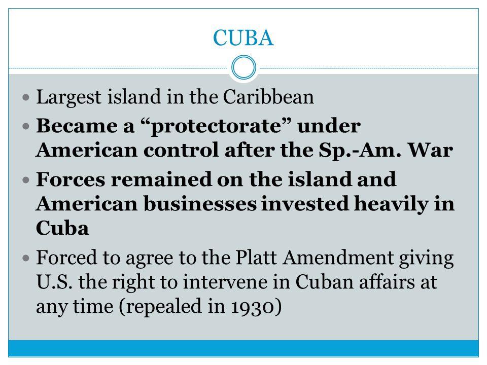 CUBA Largest island in the Caribbean