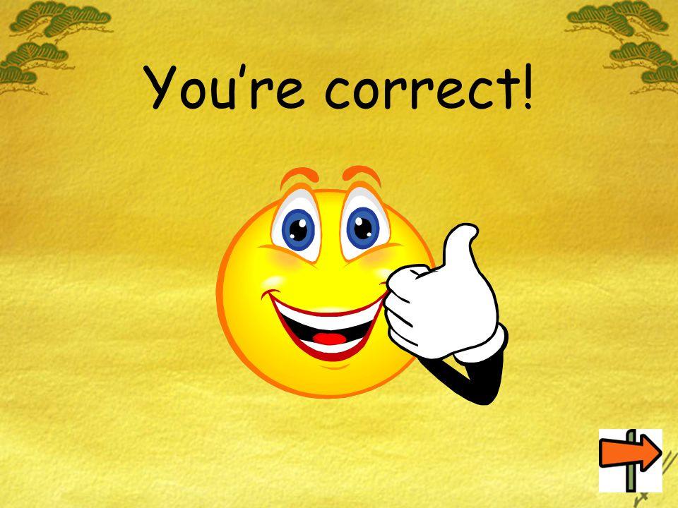 You're correct!