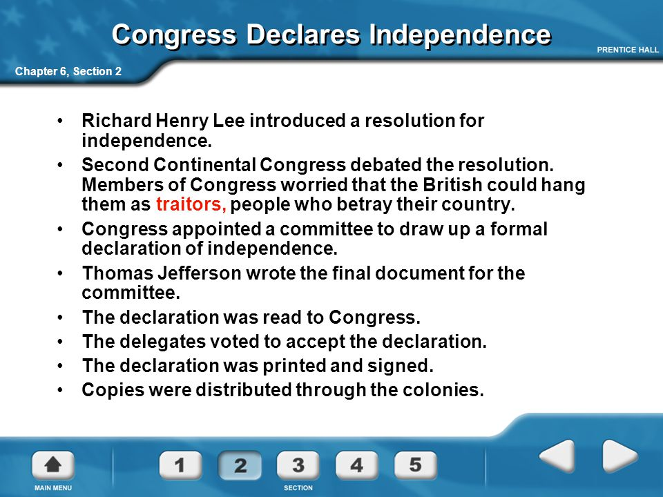 Congress Declares Independence