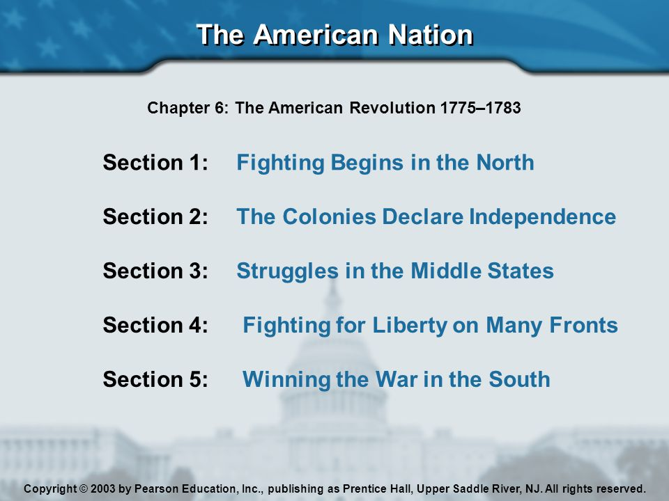 Chapter 6: The American Revolution 1775–1783