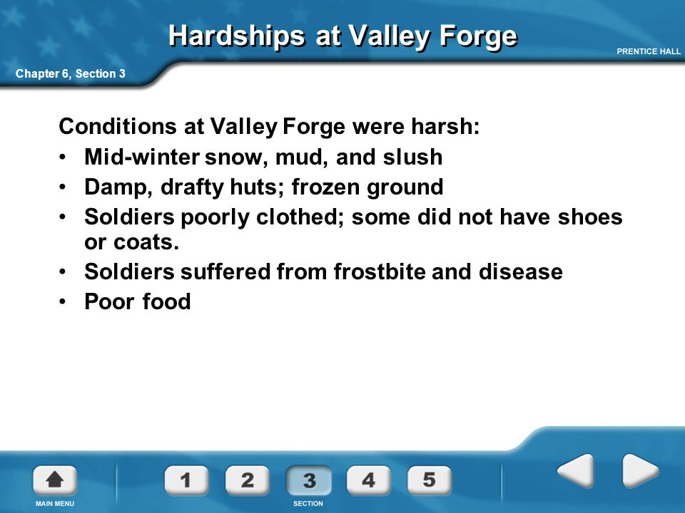 Hardships at Valley Forge