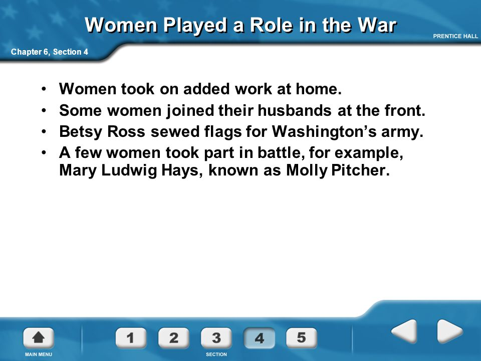 Women Played a Role in the War