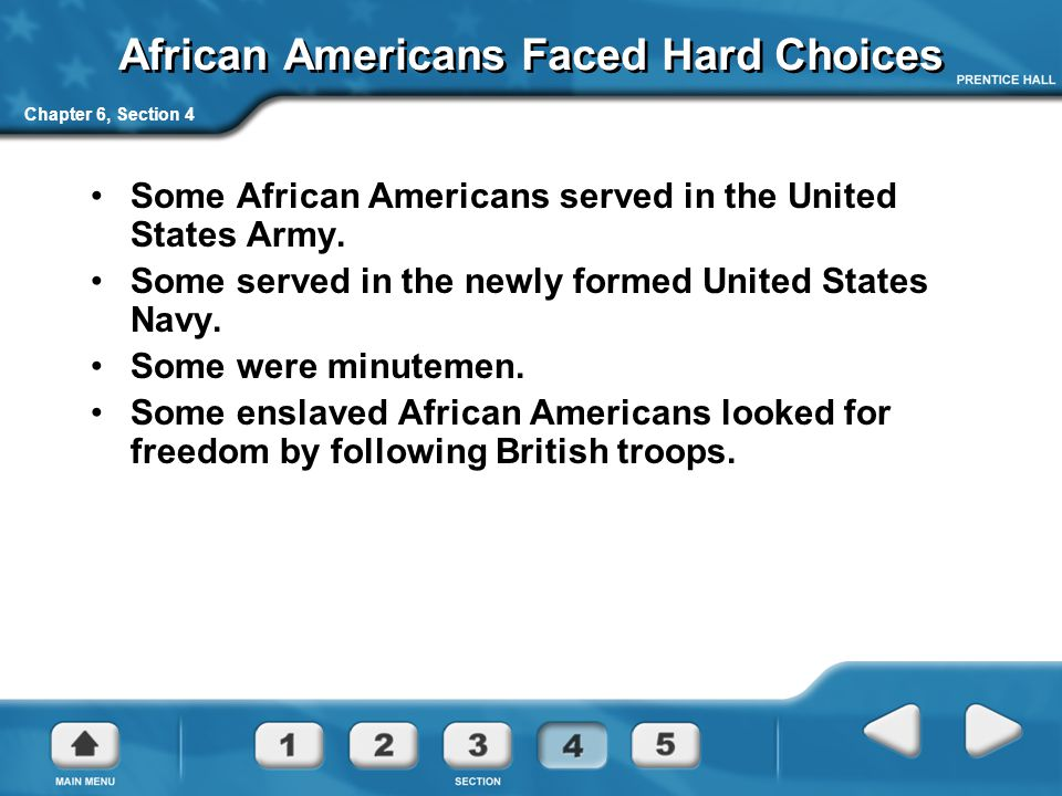 African Americans Faced Hard Choices