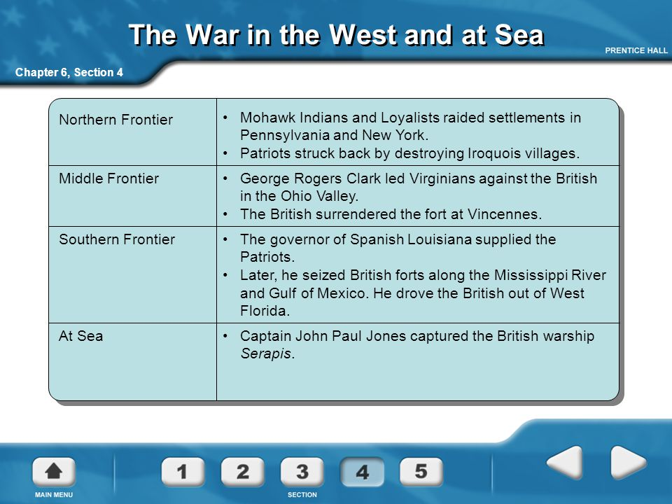 The War in the West and at Sea