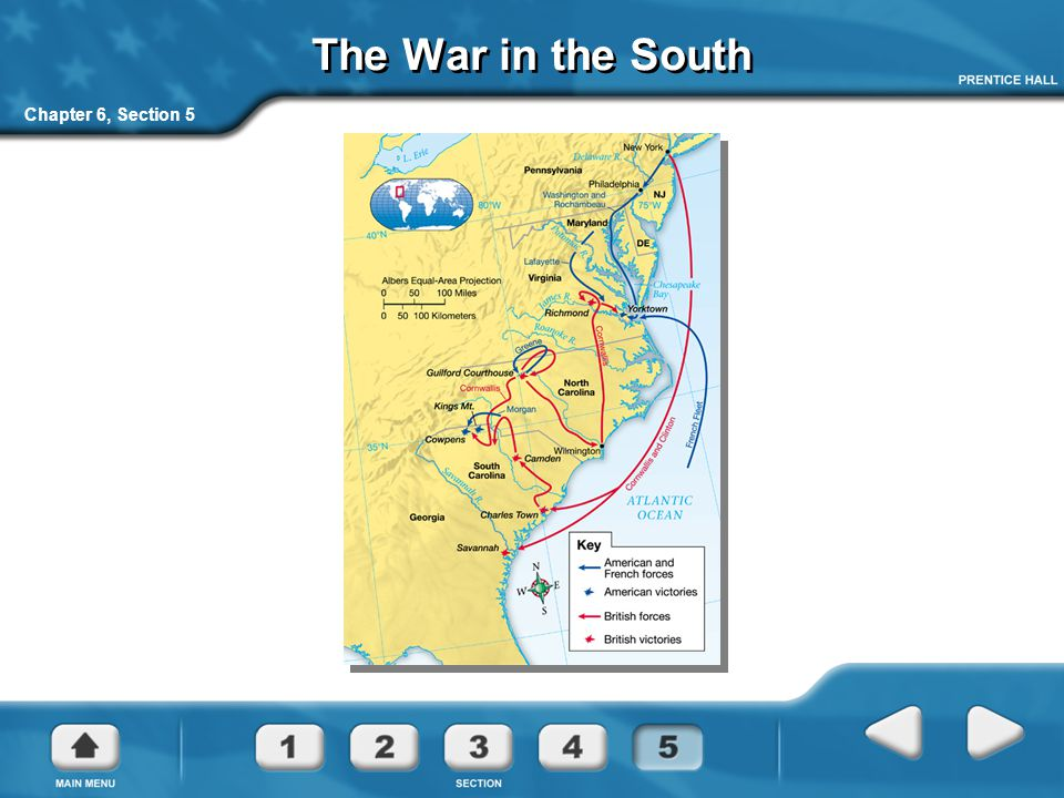 The War in the South Chapter 6, Section 5