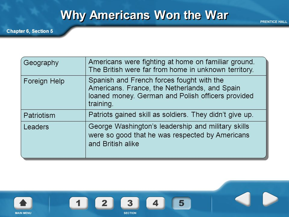 Why Americans Won the War