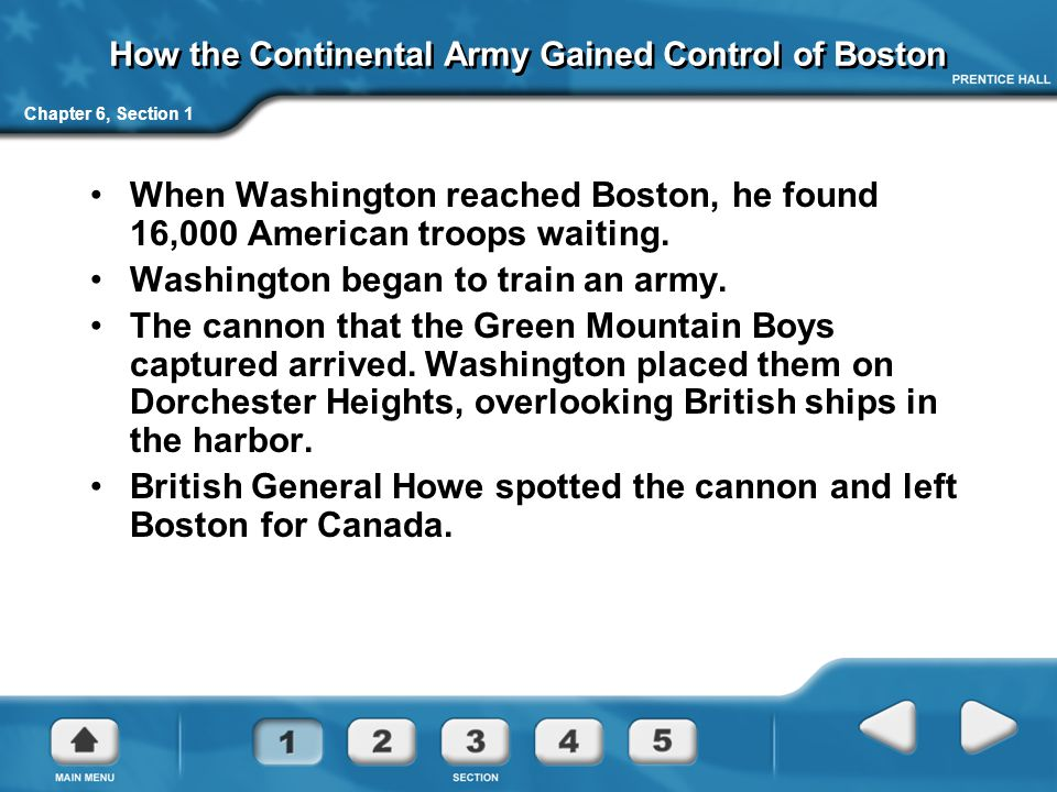 How the Continental Army Gained Control of Boston