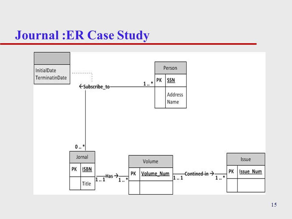 Journal :ER Case Study