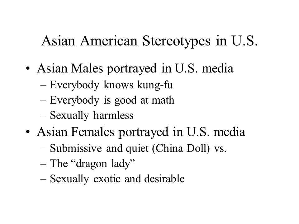 Asian American Stereotypes in U.S.