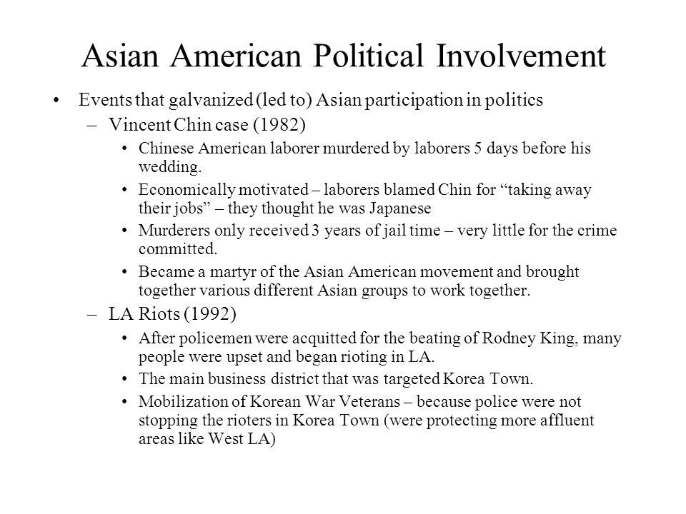 Asian American Political Involvement