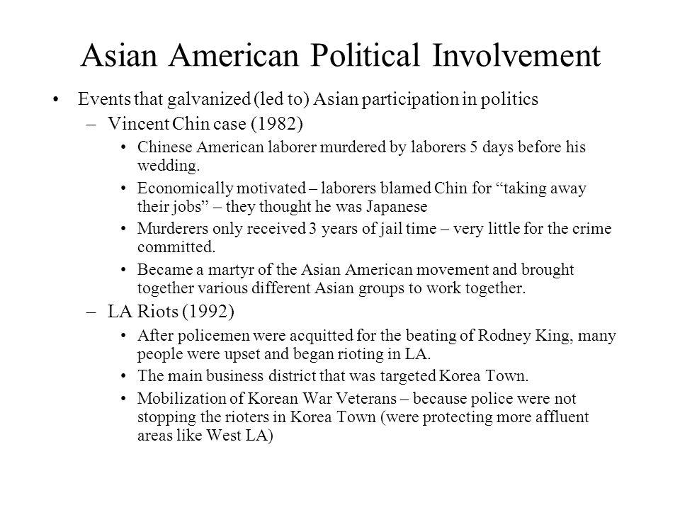 Asian American Political Involvement