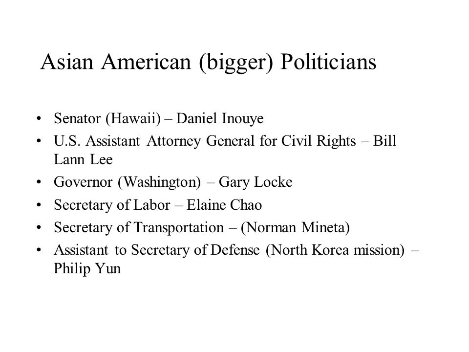Asian American (bigger) Politicians