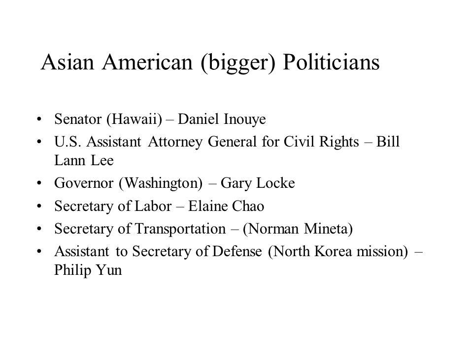 Asian American (bigger) Politicians