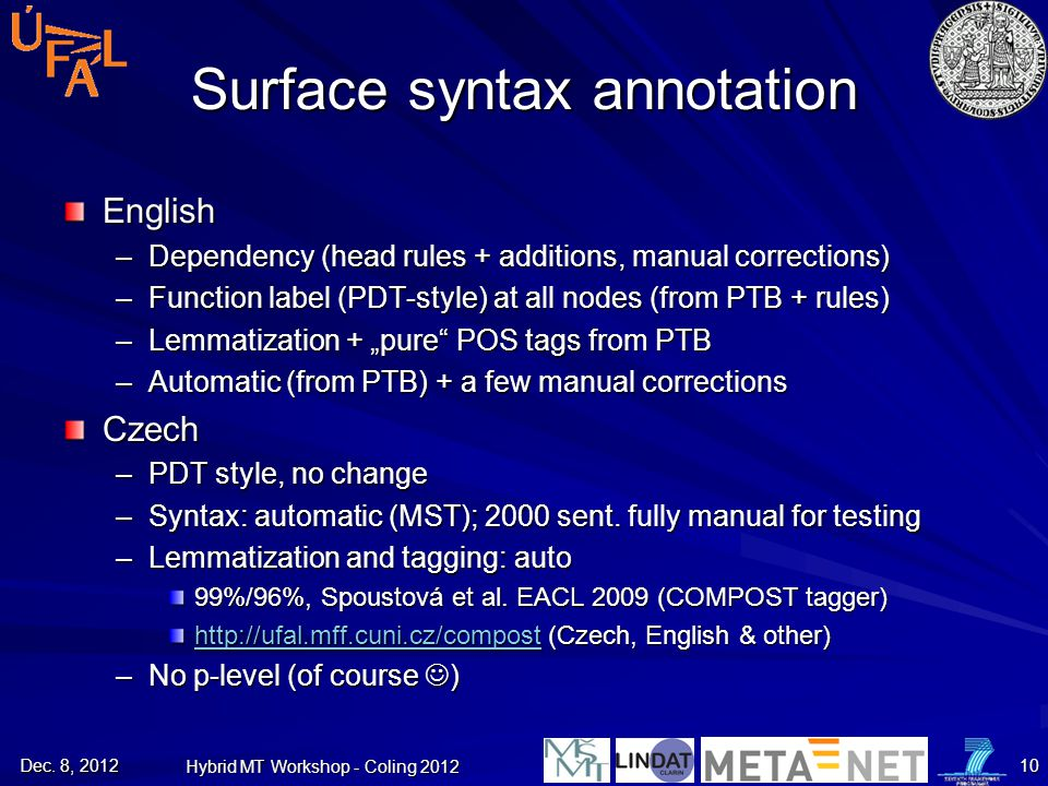 Surface syntax annotation