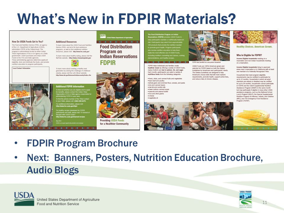 What's New in FDPIR Materials