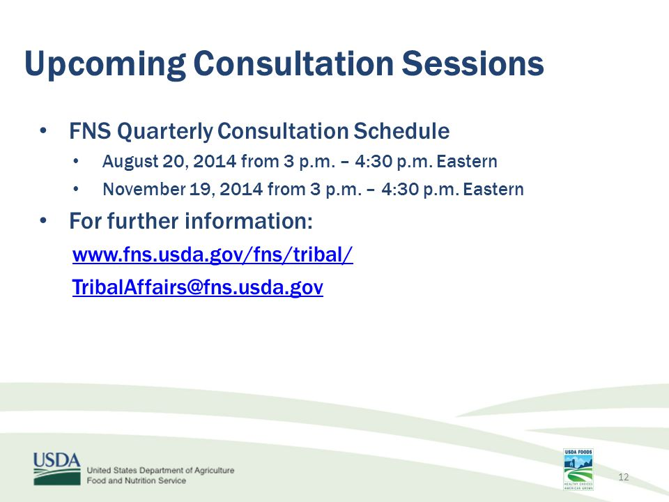 Upcoming Consultation Sessions