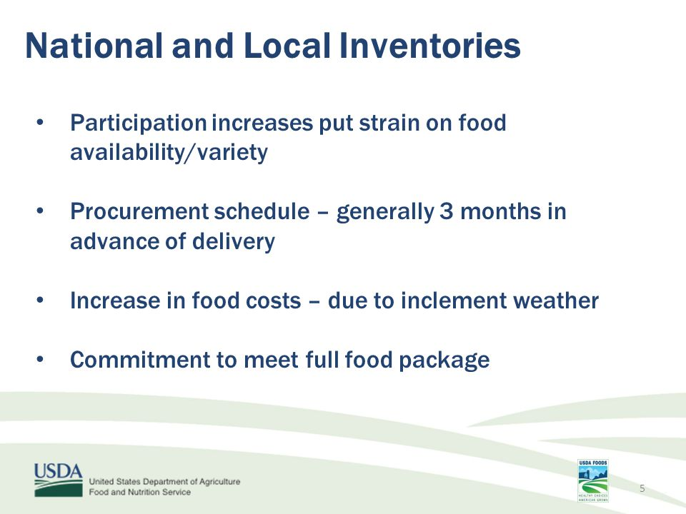 National and Local Inventories
