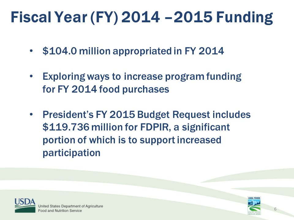 Fiscal Year (FY) 2014 –2015 Funding