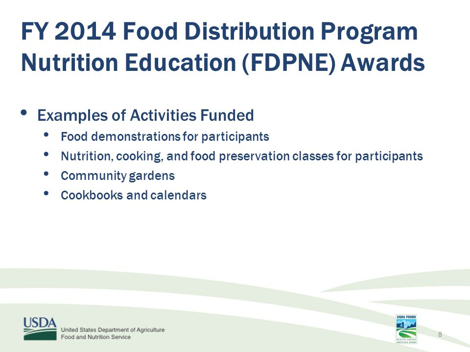 FY 2014 Food Distribution Program Nutrition Education (FDPNE) Awards