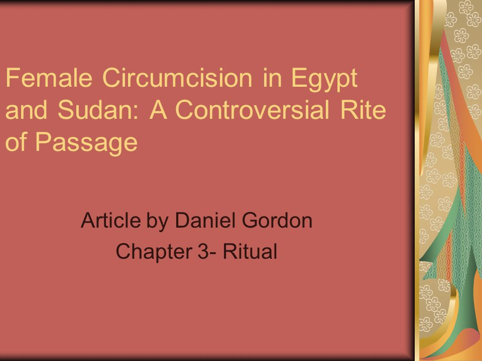 Article by Daniel Gordon Chapter 3- Ritual
