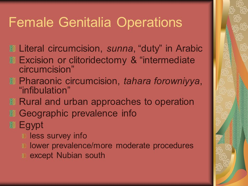 Female Genitalia Operations