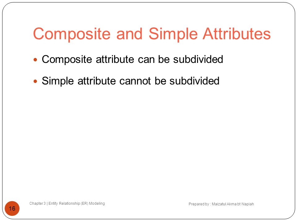 Composite and Simple Attributes