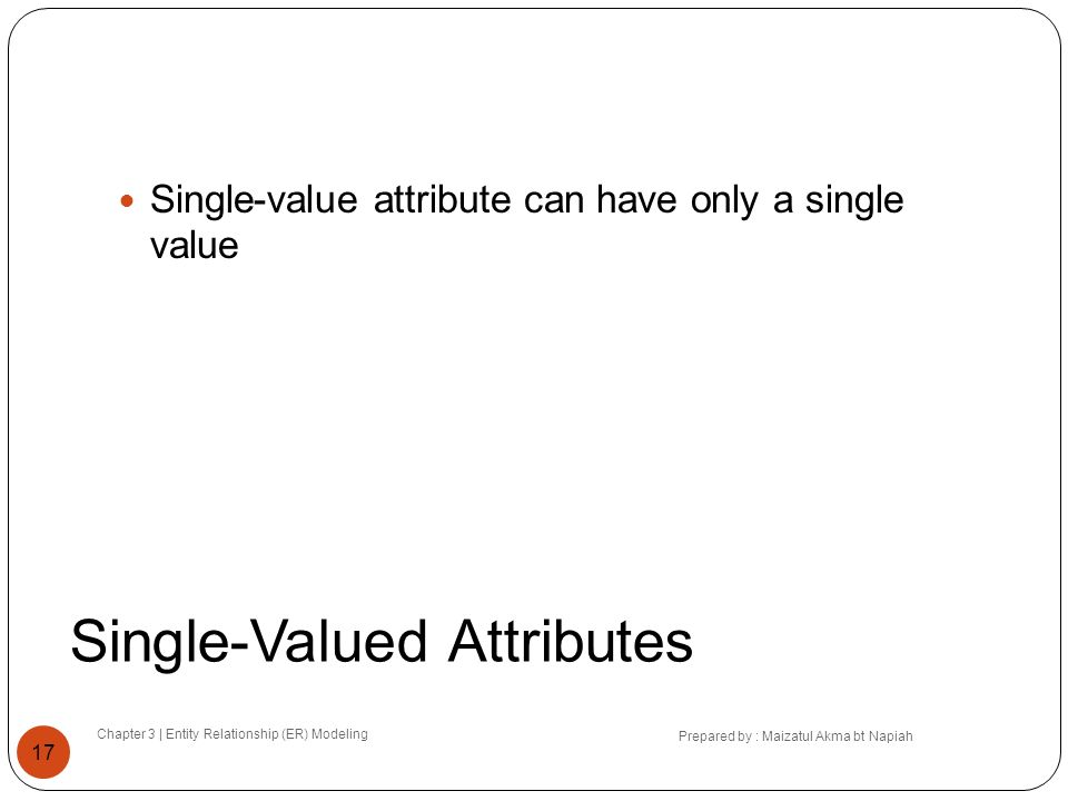 Single-Valued Attributes