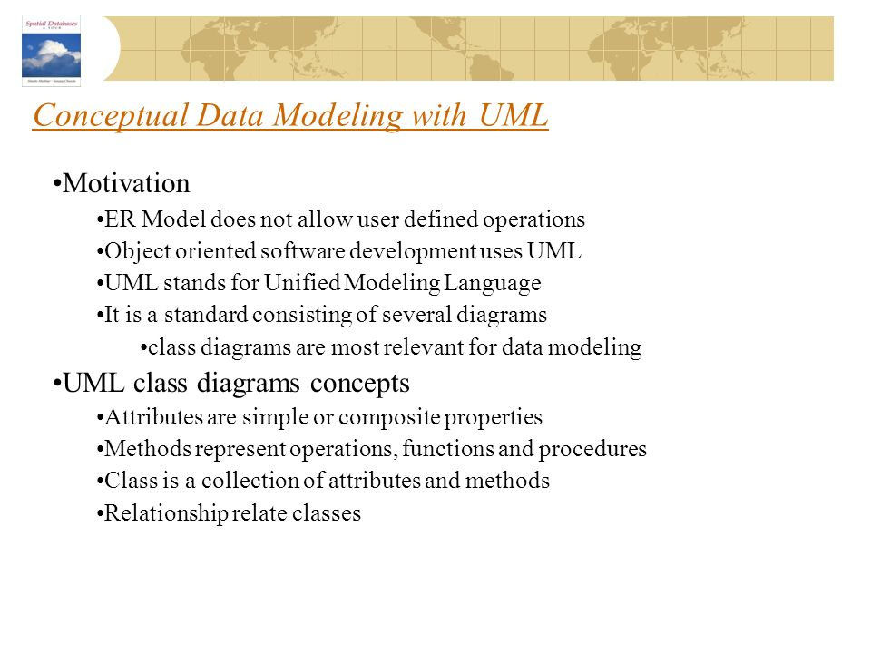 Conceptual Data Modeling with UML