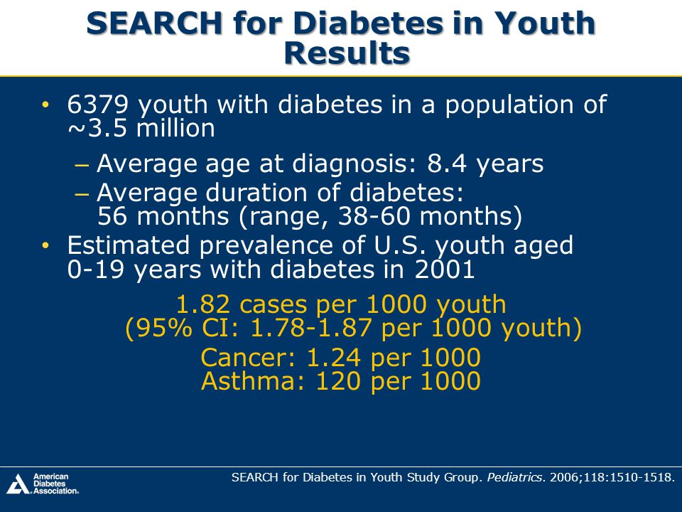 SEARCH for Diabetes in Youth Results