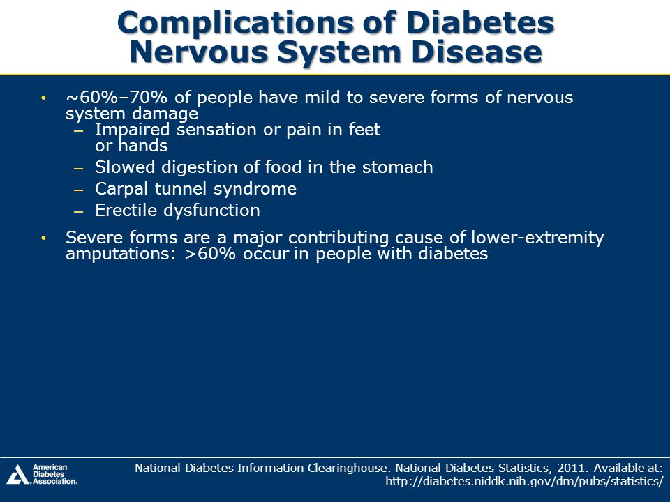 Complications of Diabetes Nervous System Disease