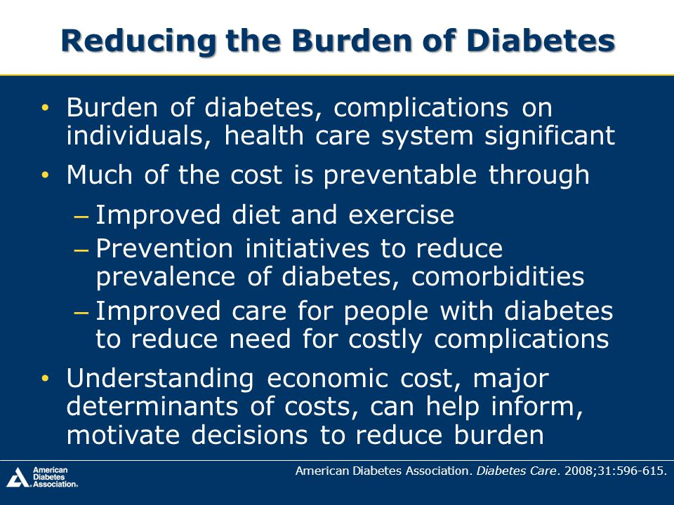 Reducing the Burden of Diabetes