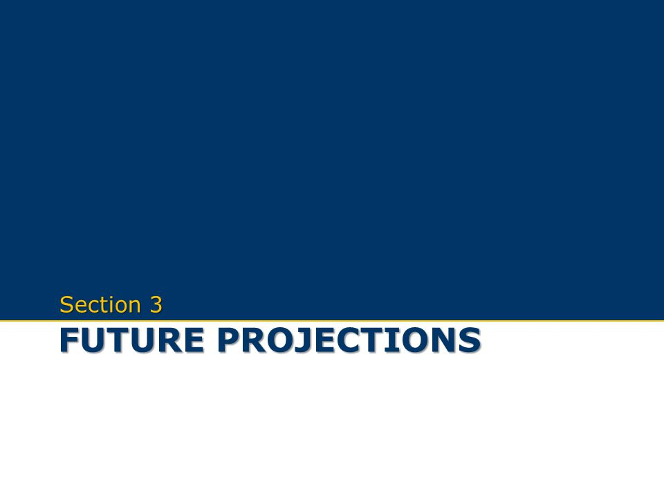Future projections Section 3