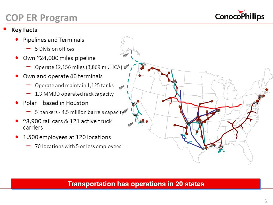 Transportation has operations in 20 states