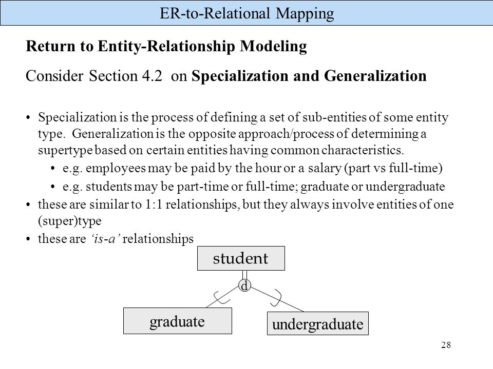 Return to Entity-Relationship Modeling