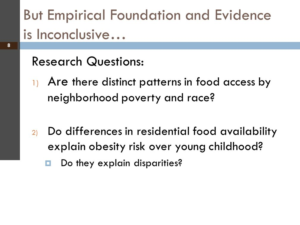 But Empirical Foundation and Evidence is Inconclusive…