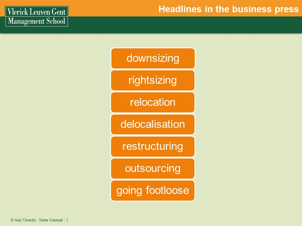 Headlines in the business press