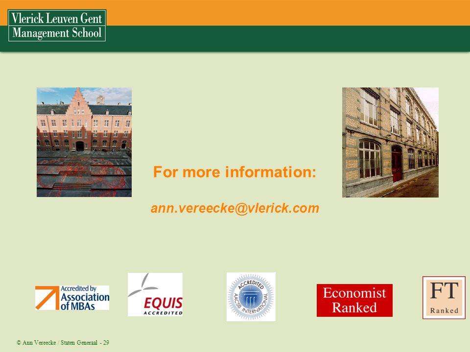 For more information: ann.vereecke@vlerick.com