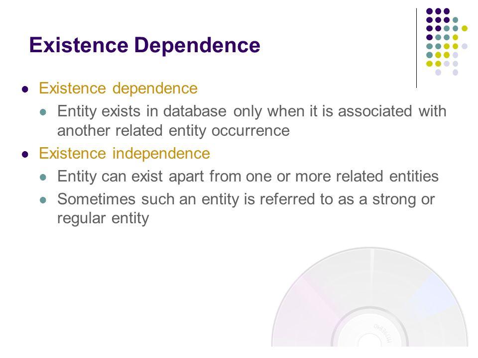 Existence Dependence Existence dependence