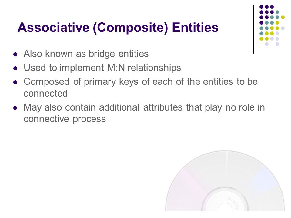 Associative (Composite) Entities