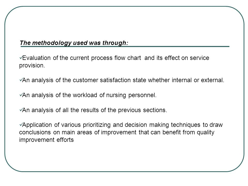 The methodology used was through: