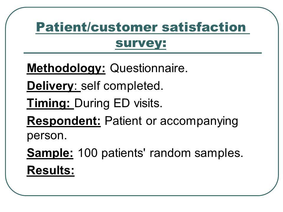Patient/customer satisfaction survey:
