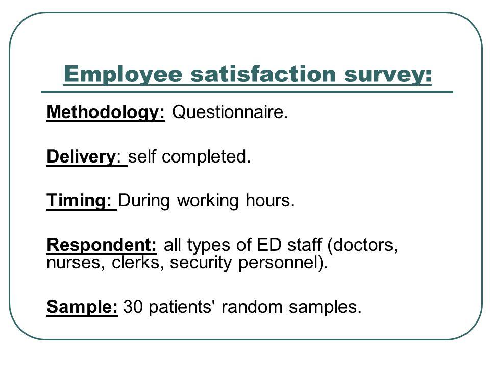 Employee satisfaction survey: