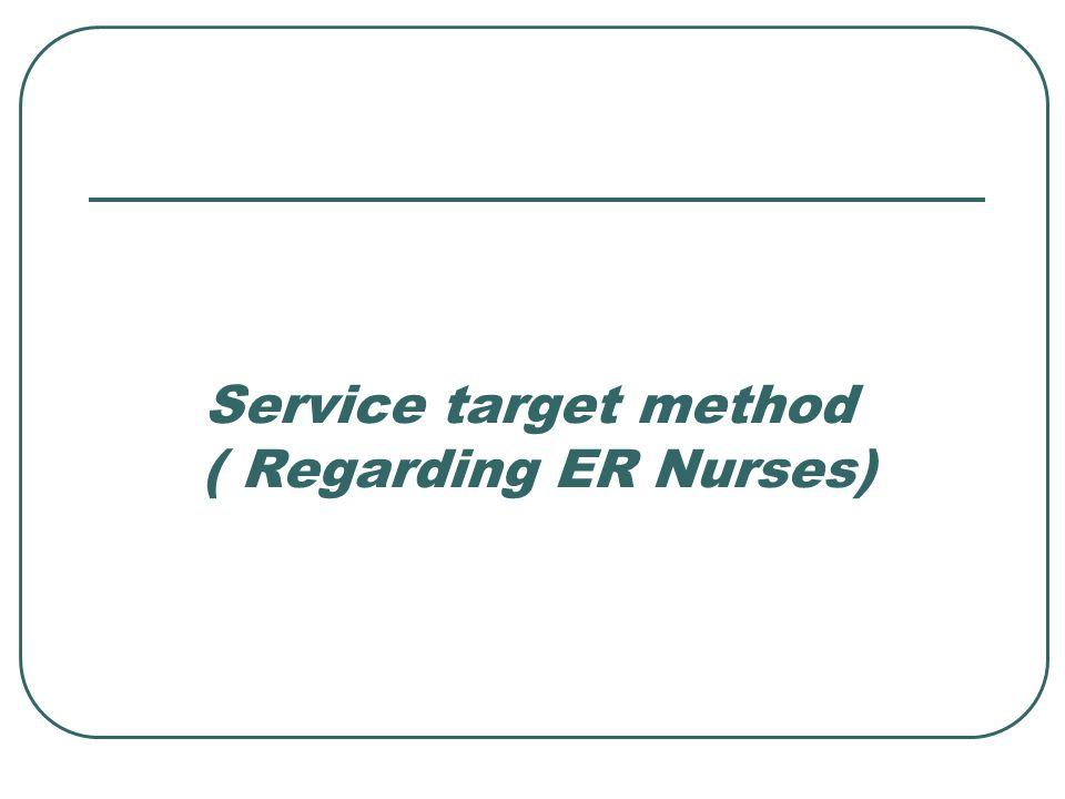 Service target method ( Regarding ER Nurses)