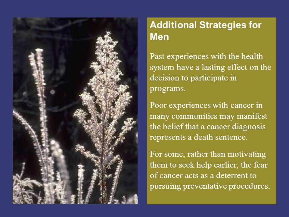 Additional Strategies for Men