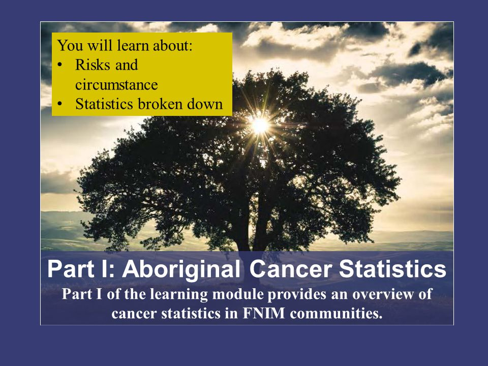 Part I: Aboriginal Cancer Statistics