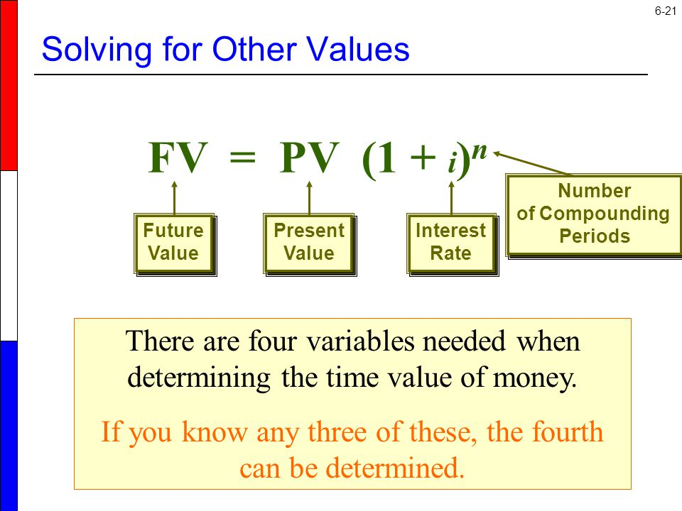 Solving for Other Values