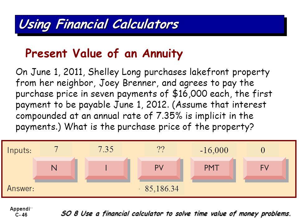 Using Financial Calculators