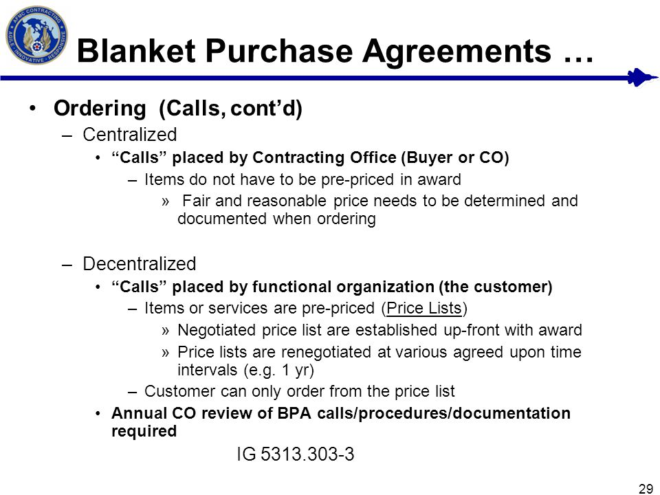 an introduction to the blanket purchase agreements bpas Incident finance branch 11 introduction 40 preseason incident blanket purchase agreements (i-bpas) and emergency equipment rental.